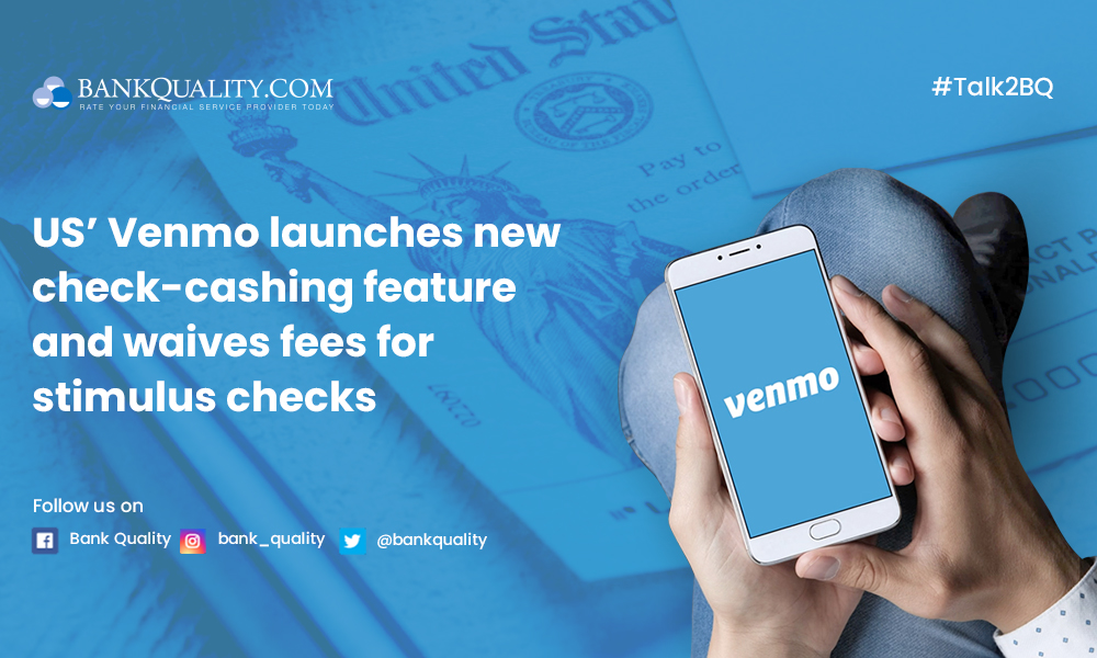 Venmo launches a new check-cashing feature, waives the fees for stimulus checks